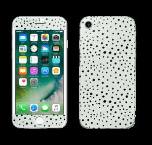 Black dots on green Skin IPhone 7