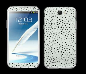 Prikker på grønt  Skin Galaxy Note 2