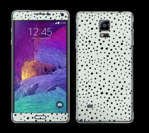 Prikker på grønt  Skin Galaxy Note 4