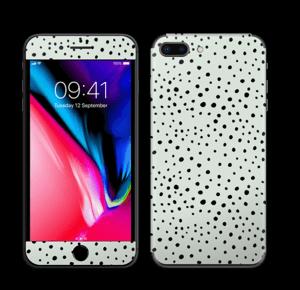 Prikker på grønt  Skin IPhone 8 Plus