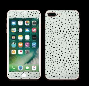 Prikker på grønt  Skin IPhone 7 Plus
