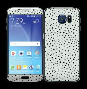Prikker på grønt  Skin Galaxy S6