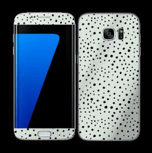 Prikker på grønt  Skin Galaxy S7 Edge