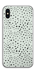 Black dots on green Skin IPhone X