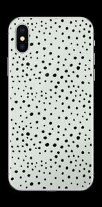 Prikker på grønt  Skin IPhone XS