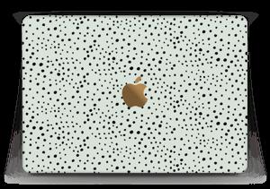 "Various dots on green Skin MacBook 12"""
