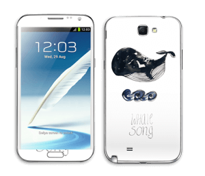 Whale song Skin Galaxy Note 2