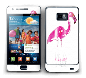 Be a flamingo Skin Galaxy S2
