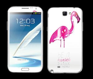 Be a flamingo Skin Galaxy Note 2