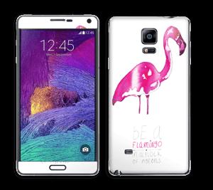 Be a flamingo Skin Galaxy Note 4