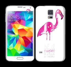 Be a flamingo Skin Galaxy S5