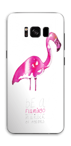 Be a flamingo Skin Galaxy S8