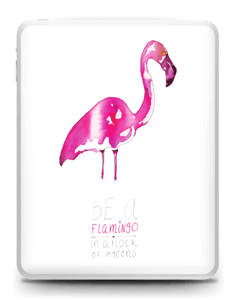 Be a flamingo Skin IPad 1