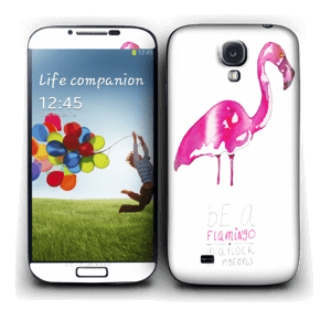 Be a flamingo Skin Galaxy S4