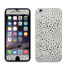 Black dots on grey Skin IPhone 6/6s