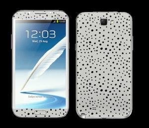 Prikker på grått Skin Galaxy Note 2