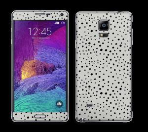 Prikker på grått Skin Galaxy Note 4