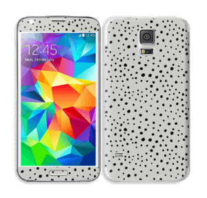 Prikker på grått Skin Galaxy S5