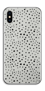 Graue Punkte Skin IPhone X