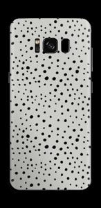 手描き小ドット・グレー スキンシール Galaxy S8