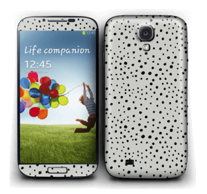 Black dots on grey Skin Galaxy S4