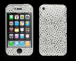 Prikker på grått Skin IPhone 3G/3GS