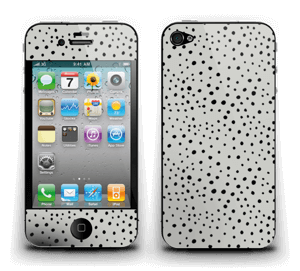 Black dots on grey Skin IPhone 4/4s