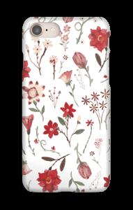 Ruusutarha kuoret IPhone 8