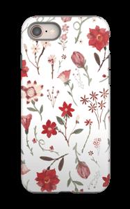 Ruusutarha kuoret IPhone 8 tough