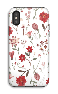 Ruusutarha kuoret IPhone X tough