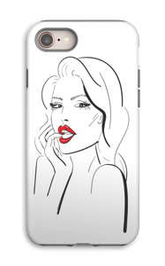 Red lips case IPhone 8 tough