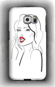 Røde lepper deksel Galaxy S6 Edge