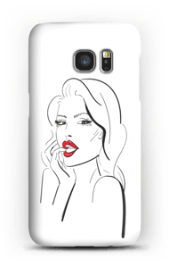 Røde lepper deksel Galaxy S7