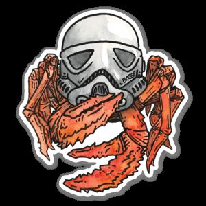 Stormtrooper crab sticker