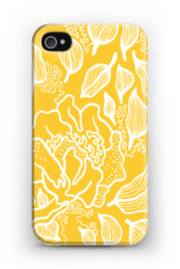 Kukkiva keltainen kuoret IPhone 4/4s