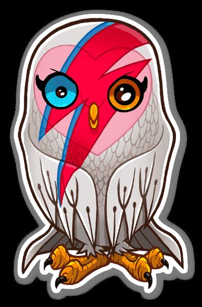 David b-OWL-ie  sticker