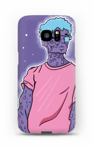 Blue Melting Guy  case Galaxy S7 Edge