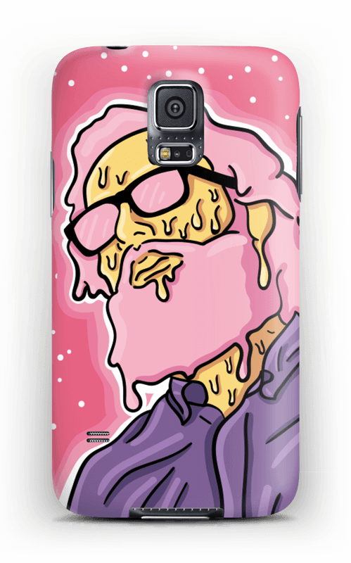 Melting guy pink deksel Galaxy S5