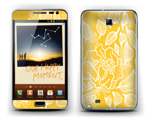 Yellow Flowers  Skin Galaxy Note