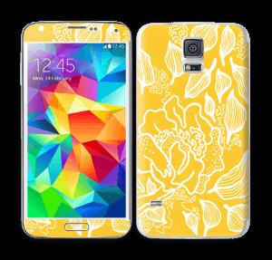 Yellow Flowers  Skin Galaxy S5