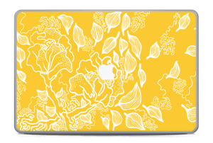 "Yellow Flowers  Skin MacBook Pro 17"" -2015"