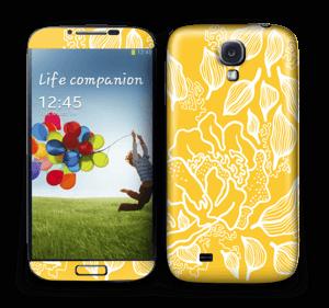 Yellow Flowers  Skin Galaxy S4