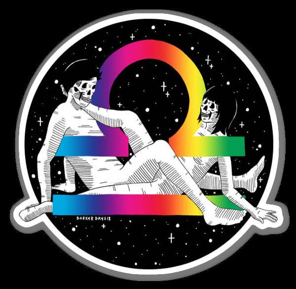 Holographic libra sticker