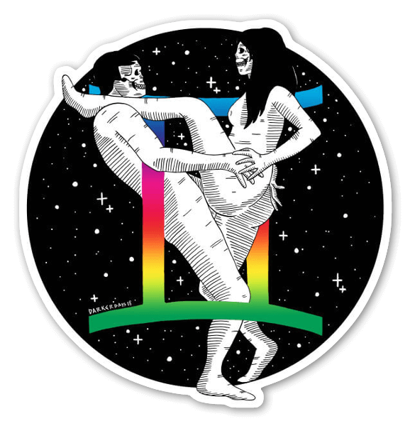 Holographic Gemini  sticker