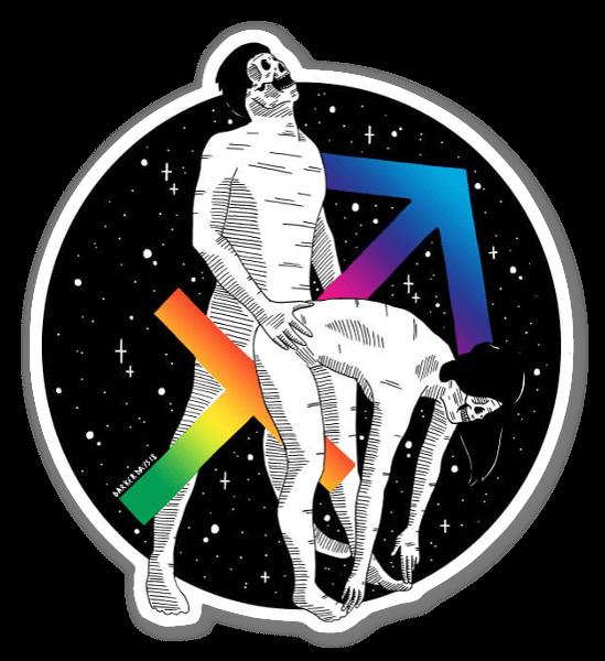 Holographic Sagittarius sticker