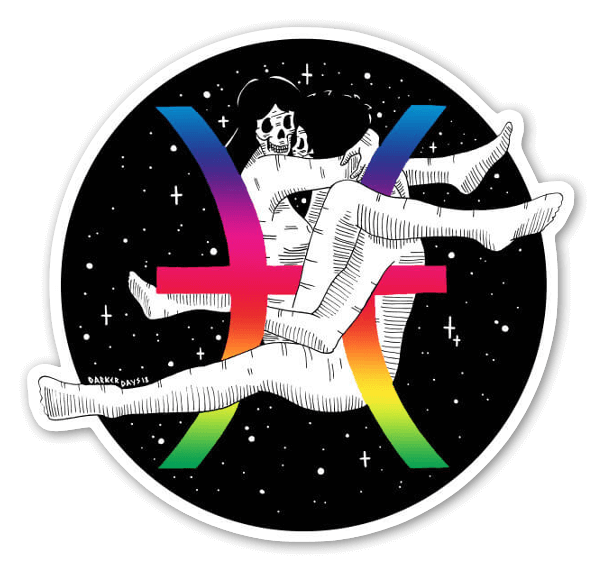 Holographic Pisces  sticker