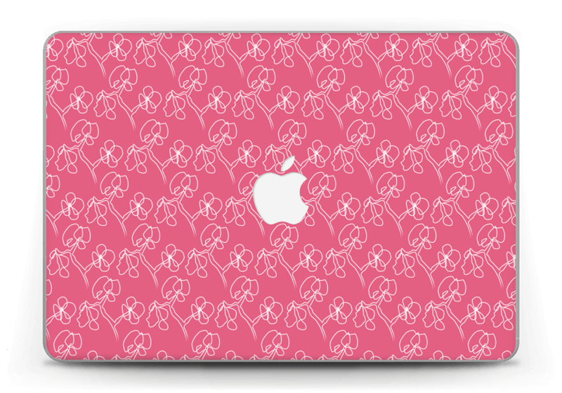 "Fleurs Abstraites Rose Skin MacBook Pro Retina 13"" 2015"