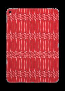 Fleurs abstraites Rouge Skin IPad Pro 9.7
