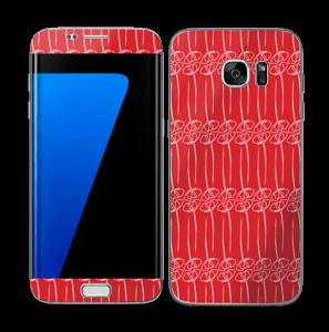 Fleurs abstraites Rouge Skin Galaxy S7 Edge