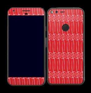 Fleurs abstraites Rouge Skin Pixel XL